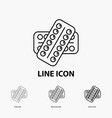 medicine pill drugs tablet patient icon in thin vector image
