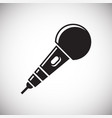 microphone icon on white background for graphic vector image