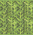 military pixelate seamless pattern with grass vector image vector image