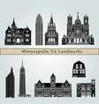 minneapolis v2 landmarks vector image vector image