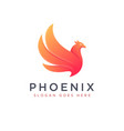 modern brave phoenix logo icon vector image
