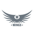 modern wing logo simple gray style vector image vector image