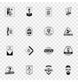 november mens day logo set simple style vector image vector image
