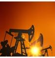 Oil pump industrial machine vector image vector image