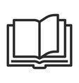 open book line art icon education symbol vector image