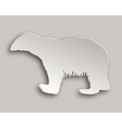 Polar bear paper style vector image vector image