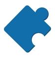 puzzle piece icon vector image vector image