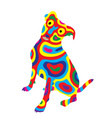 rainbow dog 8 vector image vector image