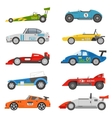 Retro sport car set vector image vector image