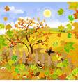 rural landscape autumn vector image vector image