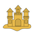 sand castle icon vector image