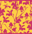 seamless pattern with magnolia tree blossom vector image vector image