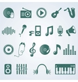 set music icons vector image