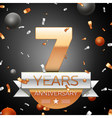 Seven years anniversary celebration background vector image vector image