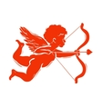 Silhouette of Cupid vector image vector image