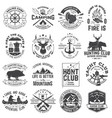 summer camp hunting club sailing camp yacht vector image vector image