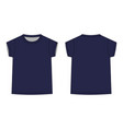 t-shirt indark blue color for women isolated vector image vector image