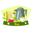 Tea concept design vector image