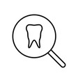 tooth inspection icon vector image vector image