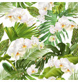 tropical orchid leave pattern vector image vector image