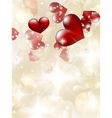 Valentins Day Card With Hearts EPS 10 vector image vector image