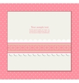Vintage pink background for invitation card vector image vector image