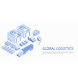 web design of global logistics vector image vector image