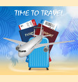 world travel and tourism concept banner in vector image