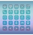 Modern user interface line icons pixels perfect vector image