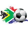 South Africa Soccer Grunge vector image