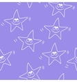 Funny sketching star Seamless pattern Baby star vector image