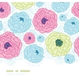 Lovely flowers vertical seamless pattern vector image