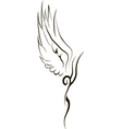 Tattoo Wing vector image