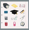 A simple fun set of student vector image vector image