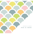 Abstract colorful fishscale corner frame pattern vector image