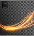 abstract transparent light effect in wave style vector image vector image