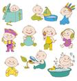 Baby Boy Doodle Set vector image vector image