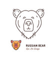 bear thin line art icon outline vector image vector image