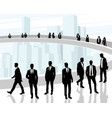 black silhouettes of business people vector image vector image