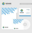 brochure design with business card cd cover and vector image