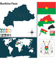 Burkina Faso map world vector image vector image