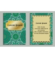 Card or invitation in oriental style with eastern vector image vector image