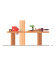 carpenters workbench vector image vector image