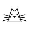 cat icon black and white simple outline vector image
