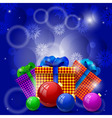 Christmas gifts and Christmas balls vector image vector image