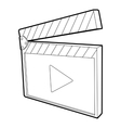 Clapboard icon isometric 3d style vector image vector image