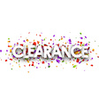 Clearance paper banner vector image vector image