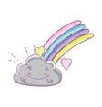 cloud and rainbow cute cartoon vector image vector image