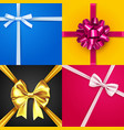 colorful banners set with silk gift bows vector image vector image