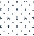 controller icons pattern seamless white background vector image vector image